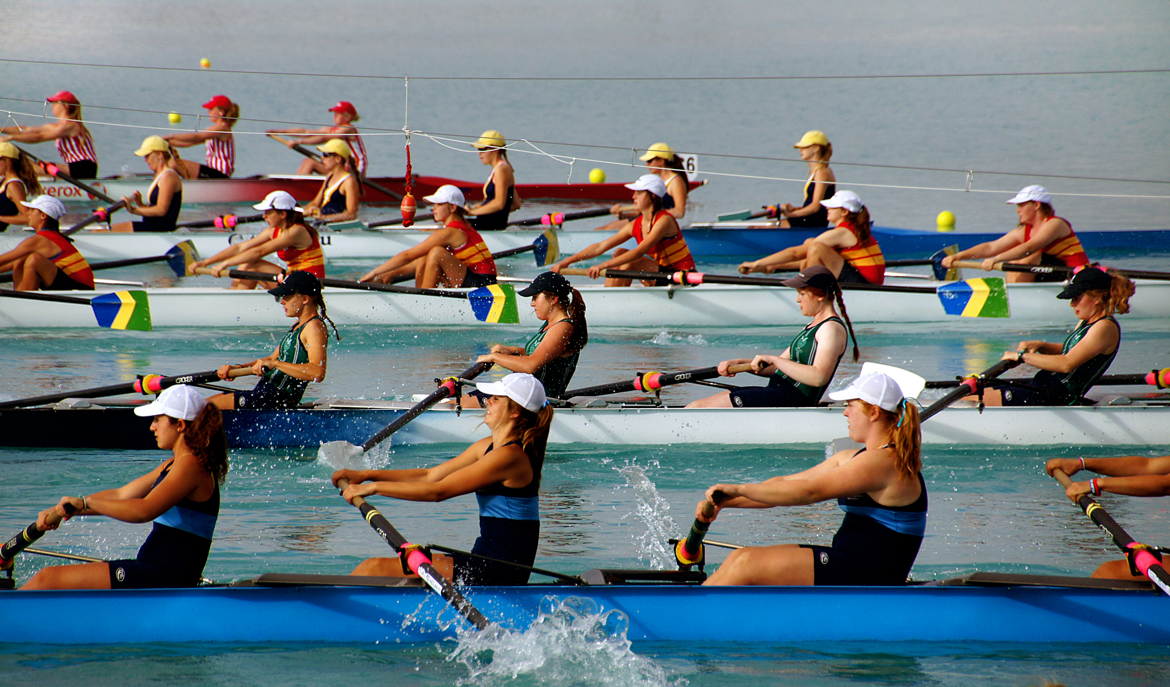 womans rowing team