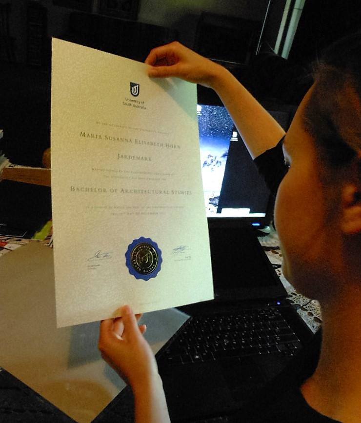 A parchment degree