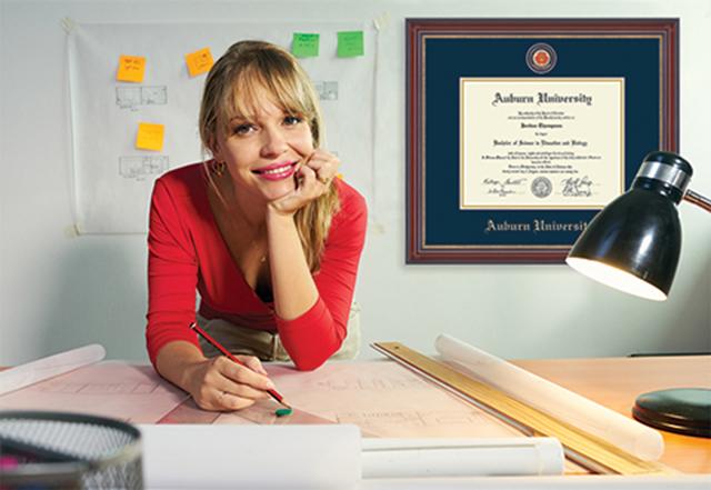 Auburn diploma frame