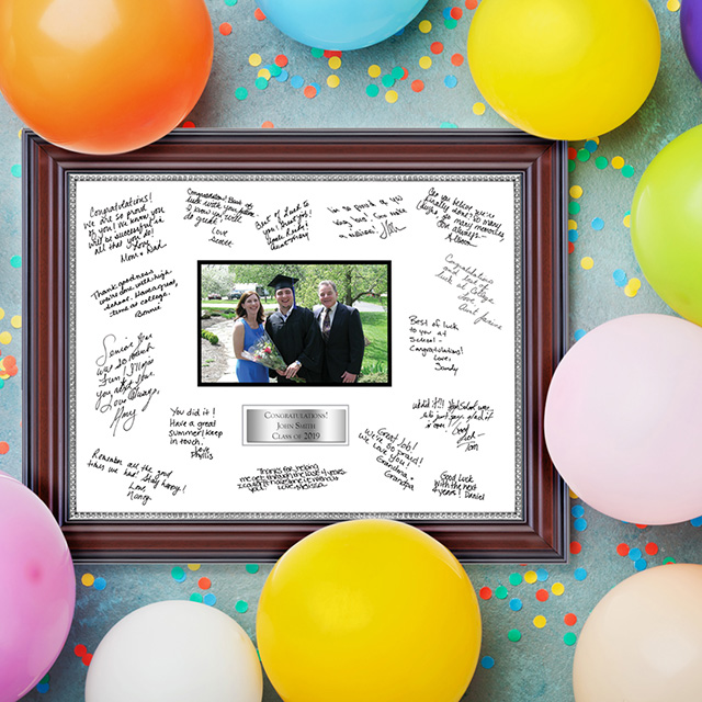 balloon with autograph frame