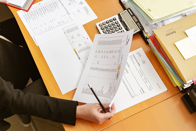 accountant with paper work
