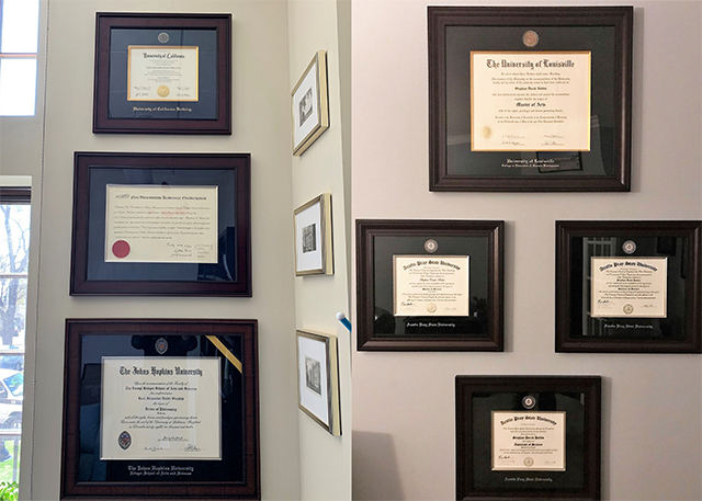 different size diplomas