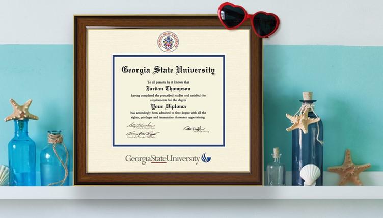 Georgia State University Diploma Frame
