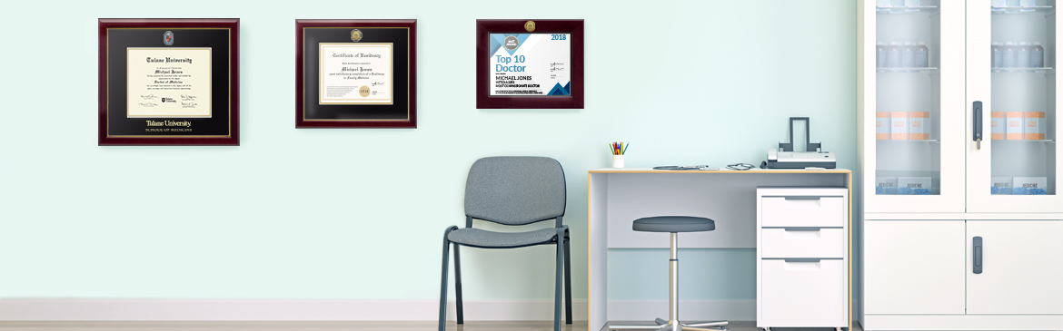 Certificate Frames With Profession Seals Church Hill Classics