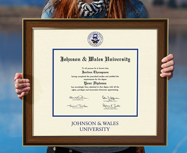 Johnson and Wales Diploma Frame