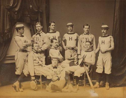 Harvard's varsity baseball team in 1877