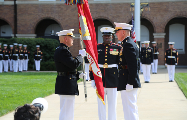 Marines with Flag image