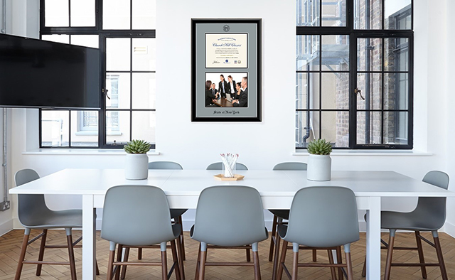 NY frame in conference room