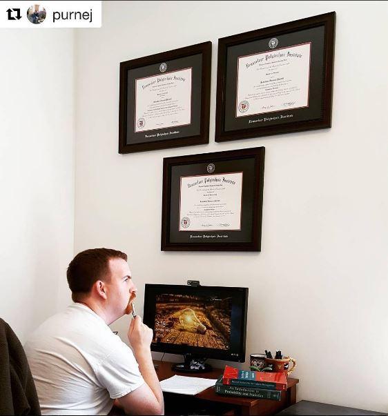 Hy Church Hill Clics Customer With Three Diplomas Framed