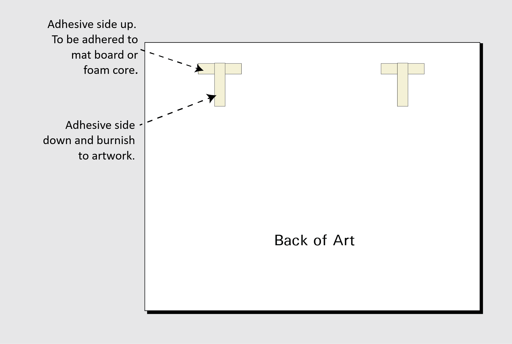 T-shape hinge art