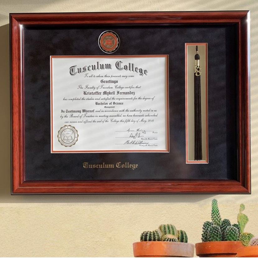 Tusculum-College-tassel-diploma-frame