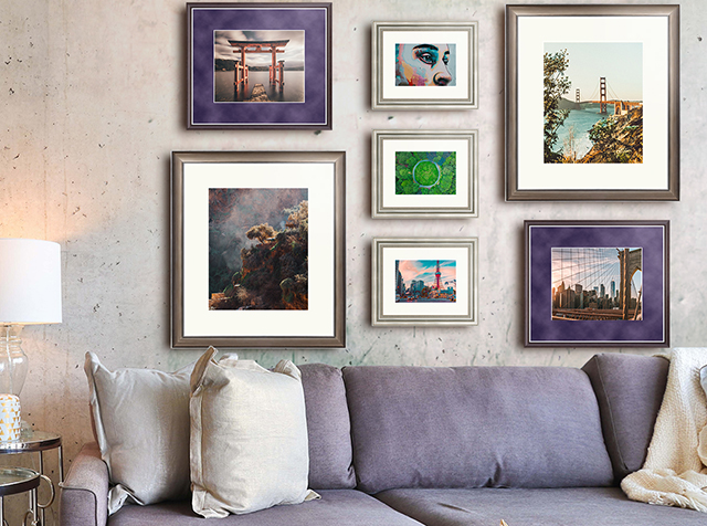 wall with frames