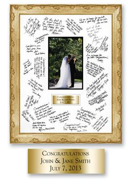 gold wedding frame
